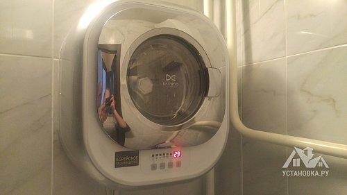 Установить настенную стиральную машину Daewoo Electronics DWD-CV701 PC