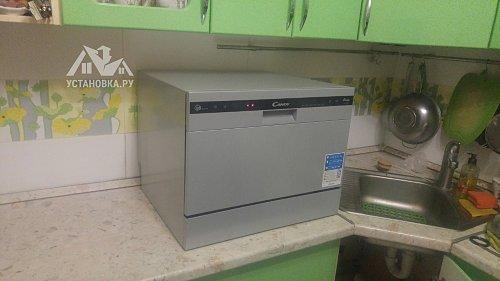 Установить компактную посудомоечную машину Candy CDCP 6/ES-07