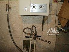 Работа по установке газовой колонки с демонтажем старой