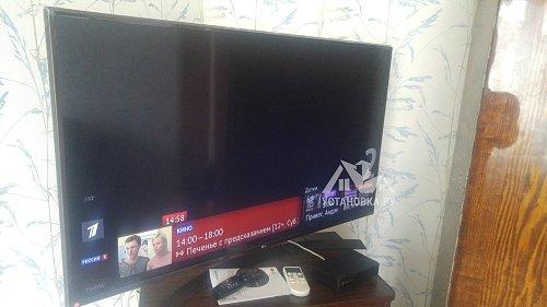 Установить телевизор диагональю 49 дюймов и настроить