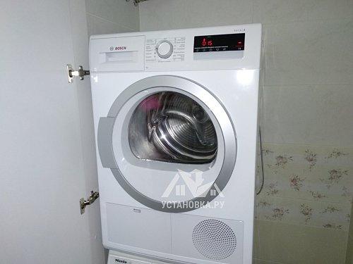 Работы по установке сушильной машины в ванной