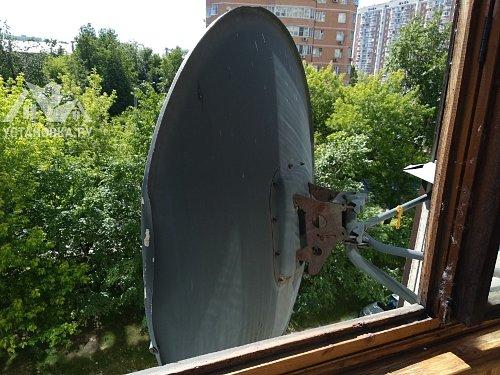 Демонтировать спутниковую тарелку с балкона