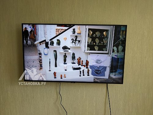 Установить телевизор на кронштейн