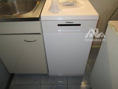 Установить посудомоечную машину соло Hansa ZWM 416 WH