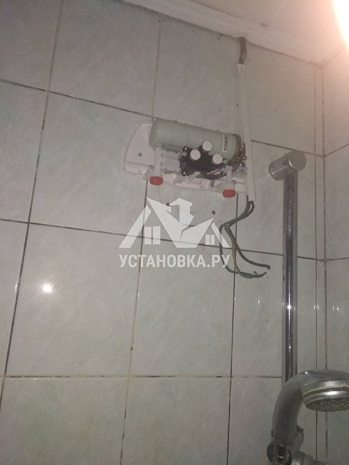 Установить проточный водонагреватель Zanussi мощностью 5.5квт