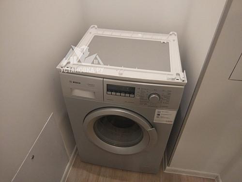 Установить сушильную машину Bosch в колонну на стиральную