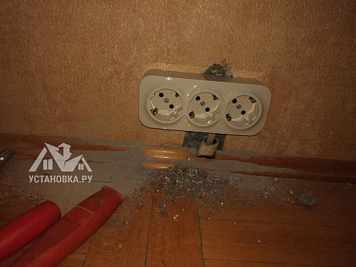 Заменить выключатель и розетки в квартире