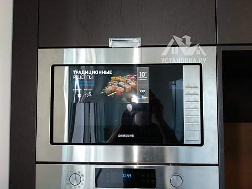 Стандартная установка встраиваемой микроволновой печи