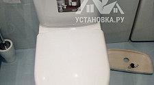 Заменить напольный унитаз с жестким соединением