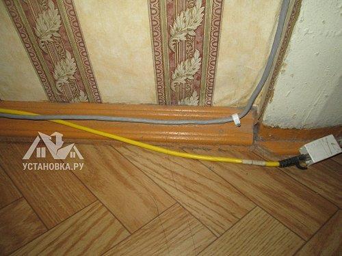 Проложить телевизионный кабель по квартире