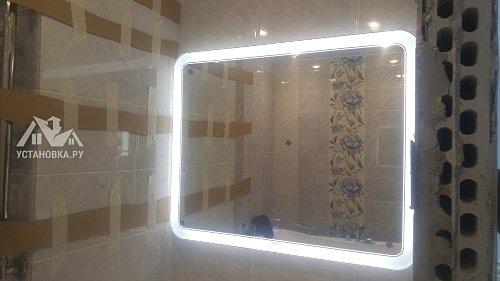 Установить ванной зеркало с подсветкой