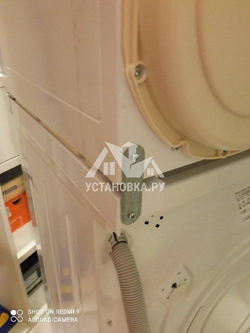 Установка сушильной и стиральной машины в колонну