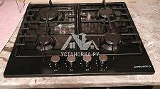 Установить духовой шкаф и варочную панель газовую