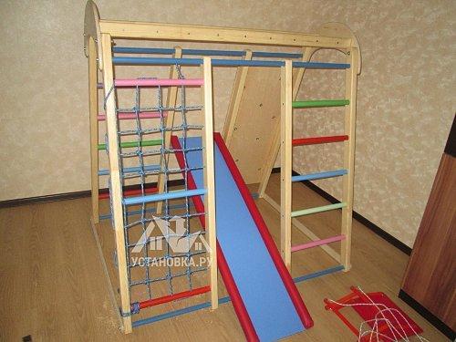 Собрать детский спортивный комплекс