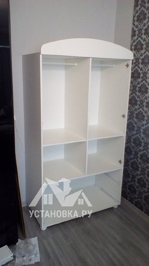 Собрать детский шкаф Mibb Cuore Bianco