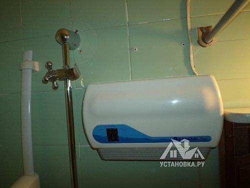 Демонтировать старый и поставить новый проточный водонагреватель