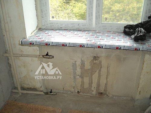 Установит краны на чугунные радиаторы