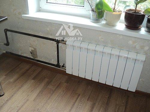 Заменить радиатор отопления