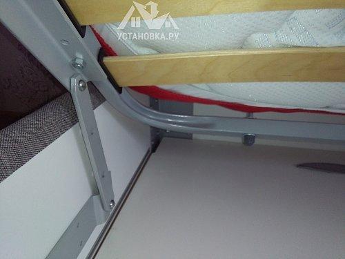 Собрать двухспальную кровать с подьемным механизмом