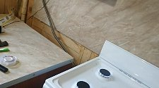 Установка плиты газовой плиты