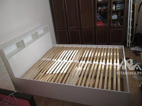 Собрать двуспальную кровать МАРИНА