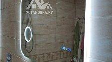 Установить в ванной комнате зеркало с подсветкой