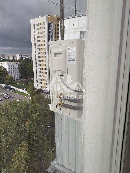 Установить кондиционер с балкона