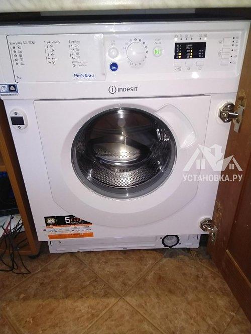 Установить встраиваемую стиральную машину Indesit BI WMIL