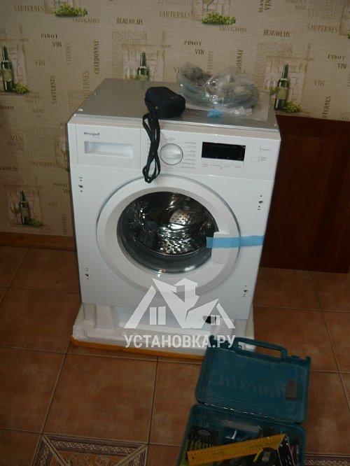 Установить встраиваемую стиральную машину Weissgauff WMI 6148D