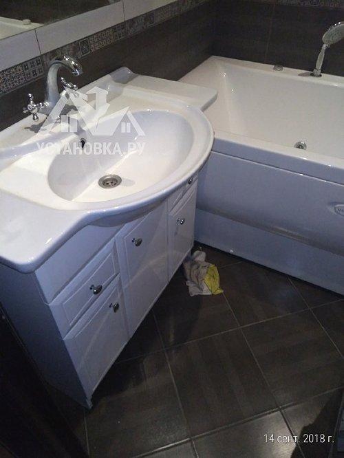 Стандартное подключение акриловой ванны