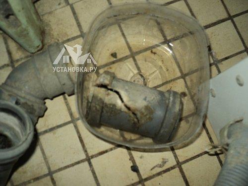 Заменить часть канализационной трубы в ванной