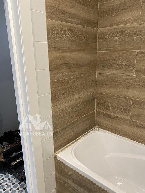 Установить каркасную душевую шторку на ванну