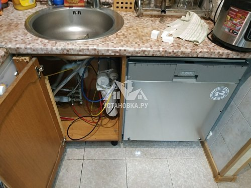 Установить встроенную посудомоечную машину без встройки