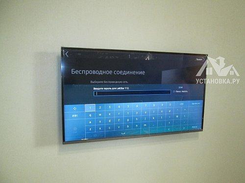 Установить телевизор на кронштейн Samsung UE40KU6400U