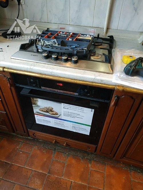 Демонтировать и установить электрический духовой шкаф Bosch HBF534E BOR