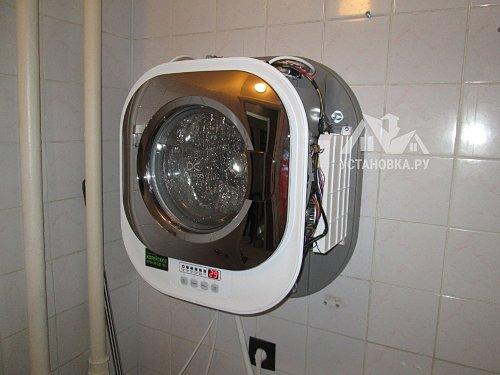 Установить настенную стиральную машинку Daewoo