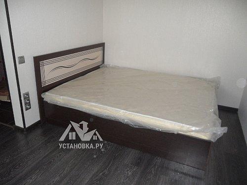 Собрать двухспальную кровать венге