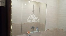 Установить шкафчик с зеркалом и мойдодыр Aquanet Тиволи 90