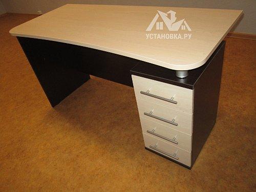 Собрать стол компьютерный Венге1