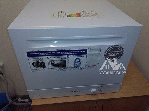 Установить компактную посудомоечную машину Bosch