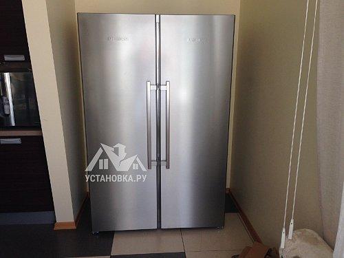 Работа по установке холодильника Side-by-syde
