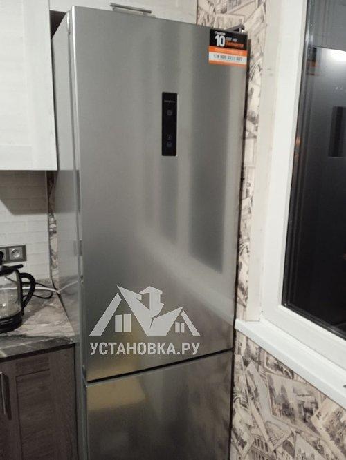 Перенавеска дверей холодильника с эл. блоком управления