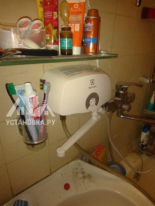 Штатное подключение проточного водонагревателя