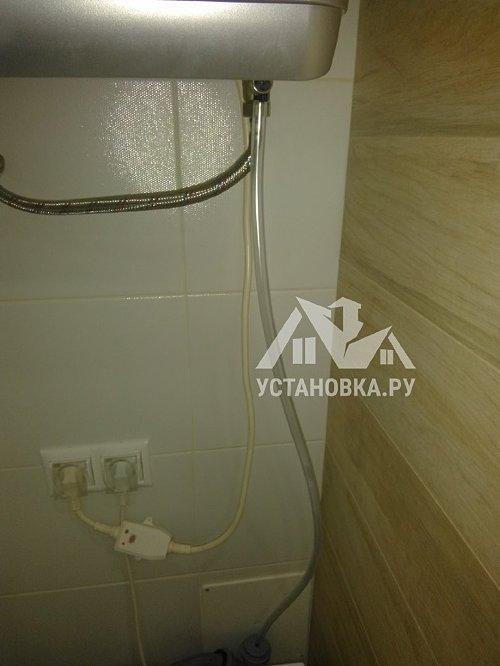 Установить капиллярную трубку на водонагреватель