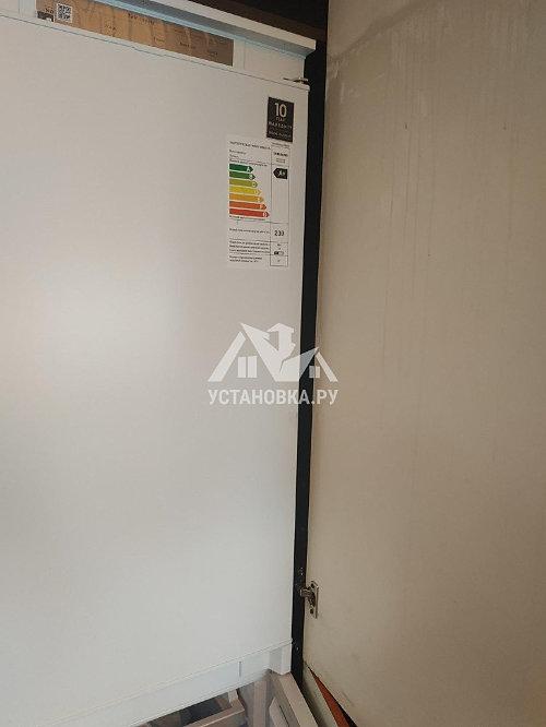 Установить встраиваемый холодильник samsung