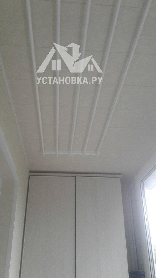 Монтаж потолочной сушилки для белья типа