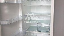 Установка холодильника и перенавес дверей