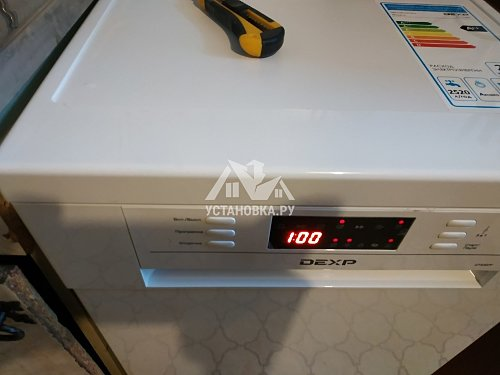 Установка посудомоечной машины соло