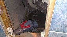 Установка канализационного обратного клапана Ф50