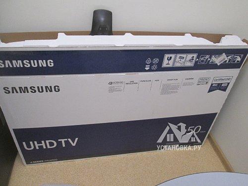 Навесить телевизор Samsung UE50MU6100UXRU